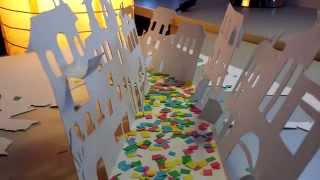 The city of Sofia paper-cut animation