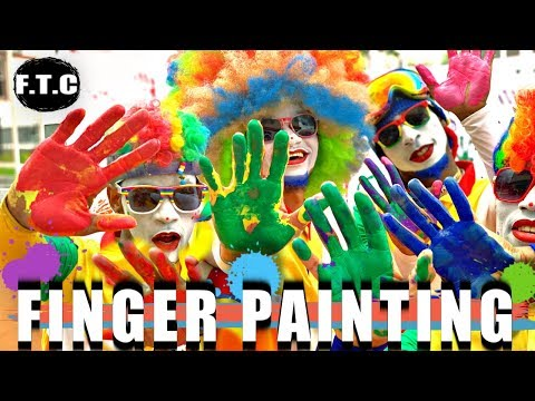 FRESH THE CLOWNS - FINGER PAINTING 🎨🙌🏾 #KidActivies #Learning #FunForKids #babies