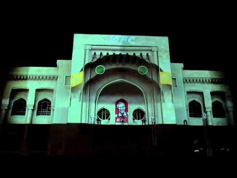 KFC 3D Mapping in Baku, Azerbaijan