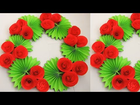 Christmas Decorations Diy Simple Home Decor Wall Door Decoration Hanging Flower Paper Craft N9