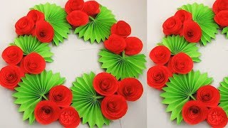 Christmas decorations/ DIY. Simple Home Decor. Wall, Door Decoration. Hanging Flower. Paper Craft n9