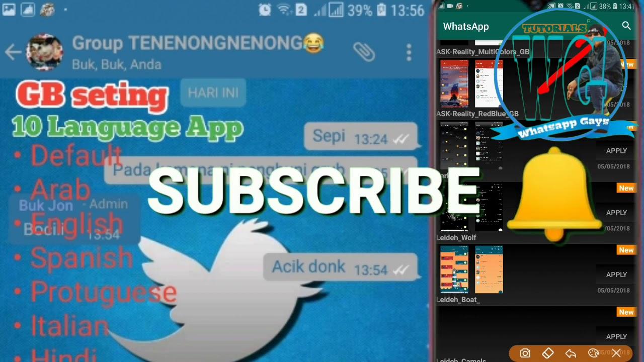 Whatsapp Mod Anti Blokir GB Seting Language Themes Twitter