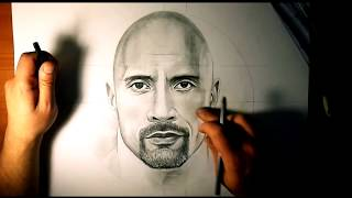 Dwayne The Rock Johnson | Portrait Drawing