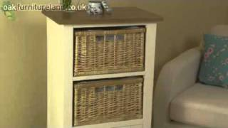 Cotswold Cream Painted Shaker Solid Oak Bookcase / Storage Unit From Oak Furniture Land