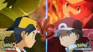 Pokemon Battle USUM: Red Vs Gold (Red Indigo Plateau, Pokémon Origins Team)
