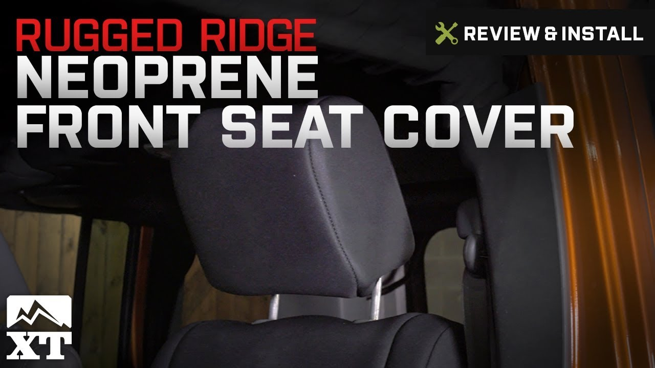 Rugged Ridge 13215.01 Black Neoprene Front Seat Cover