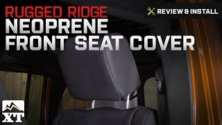 Jeep Wrangler Rugged Ridge Neoprene Front Seat Cover - Pair  (2007-2017 JK) Review & Install