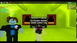 trying to get admin and using it (ROBLOX)