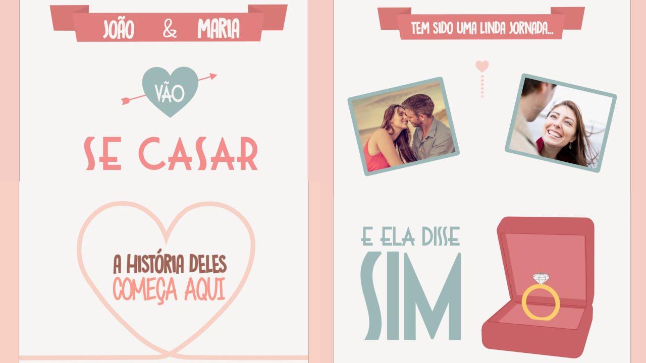 Video Convite De Casamento Ela Disse Sim Versão 2017 Youtube