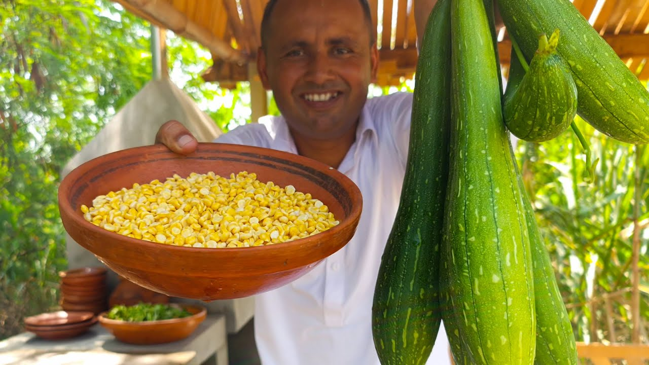 Turai Chana Dal Recipe | Turai Ki Sabzi Chana Dal Ke Sath | Mubashir Saddique | Village Food Secrets