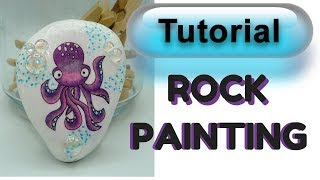 Rock Painting Tissue Paper Technique How to put ANY image on a rock!