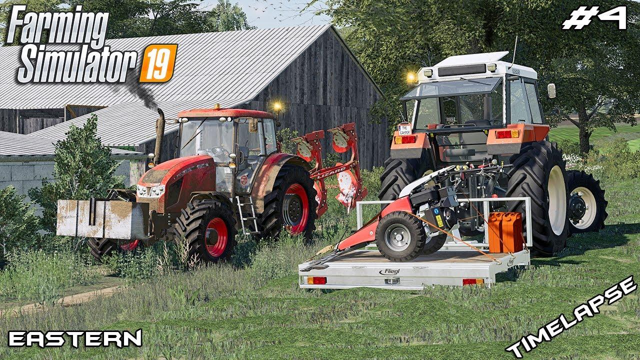 Mowing HAY, CLOVER, ALFALFA & plowing field | Animals on Eastern | Farming Simulator 19 | Episode 4