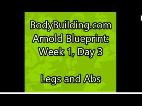 Arnold blueprint week 1 day 3 legs and abs youtube arnold blueprint week 1 day 3 legs and abs malvernweather Choice Image
