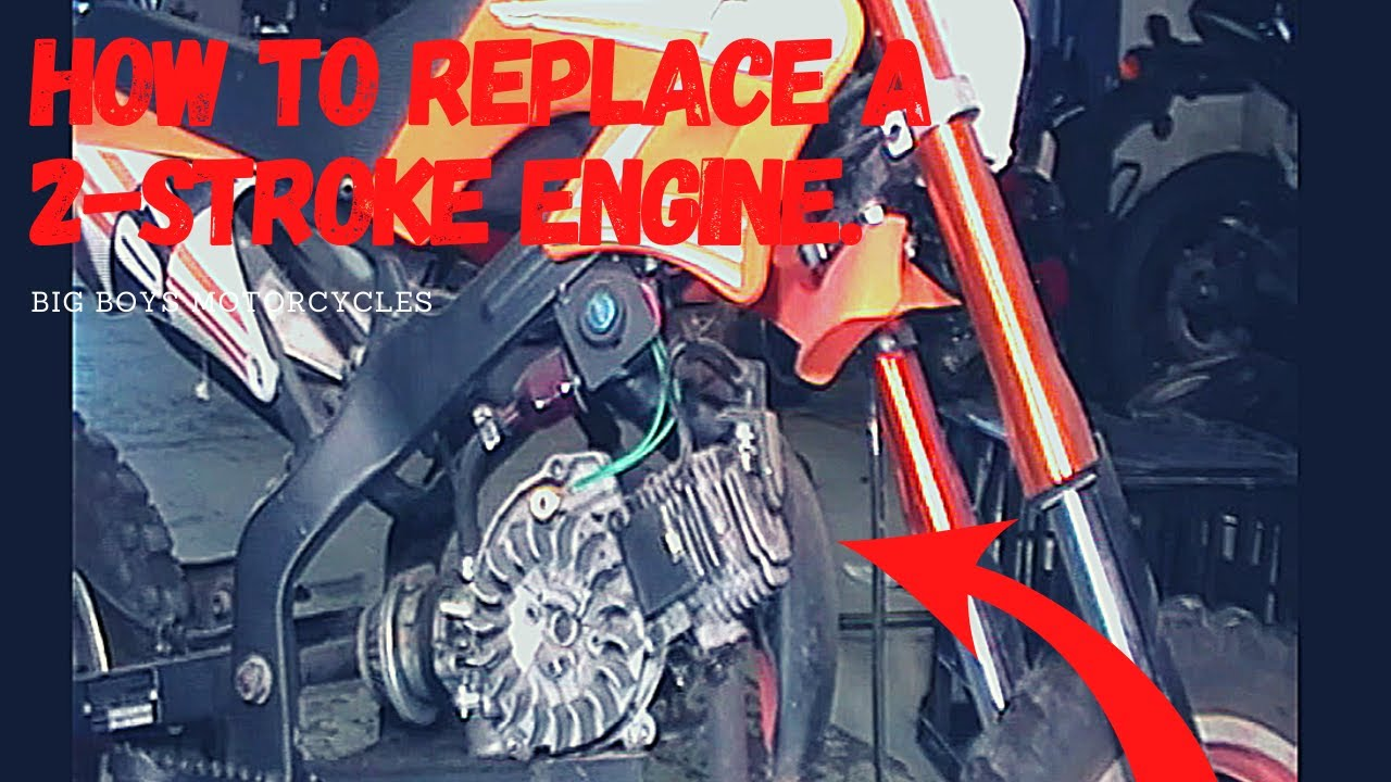 How to Replace a 2-Stroke 49cc Engine - Tutorial