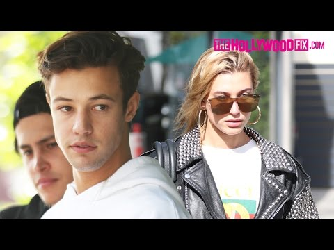 Cameron Dallas & Hailey Baldwin Leave Their Lunch Date Together At Urth Caffe 4.24.17