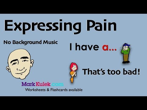 Expressing Pain and Sympathy - I Have a ... / That's...   English Speaking Practice   ESL