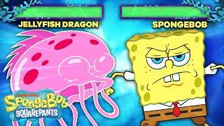 If SpongeBob Was A Fighting Arcade Game: Jellyfish Boss Battle! | SpongeBob SquareOff