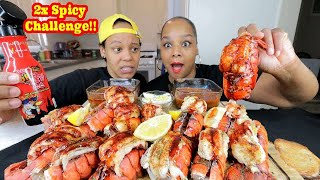 6 2X SPICY LOBSTER TAILS IN 5 MINUTES CHALLENGE!!