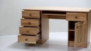 Стол письменный компьютерный из дерева бук(ЧП
