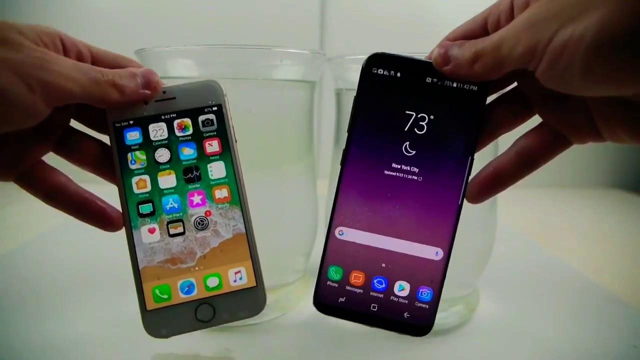 watch fb45a 6162d iPhone 8 vs Samsung Galaxy S8 Salt Water Test! - YouTube