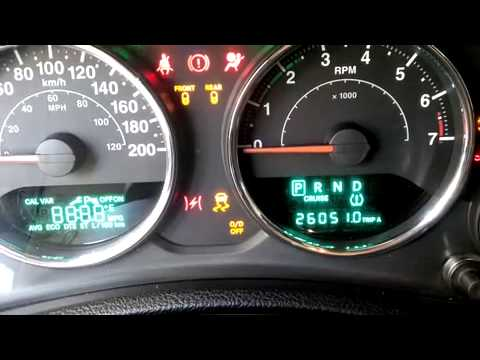 Jeep Wrangler 2012 Speedometer And Ignition Check Youtube