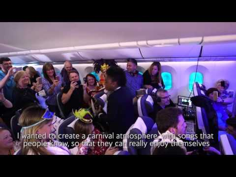 British Airways Mardi Gras Party Flight
