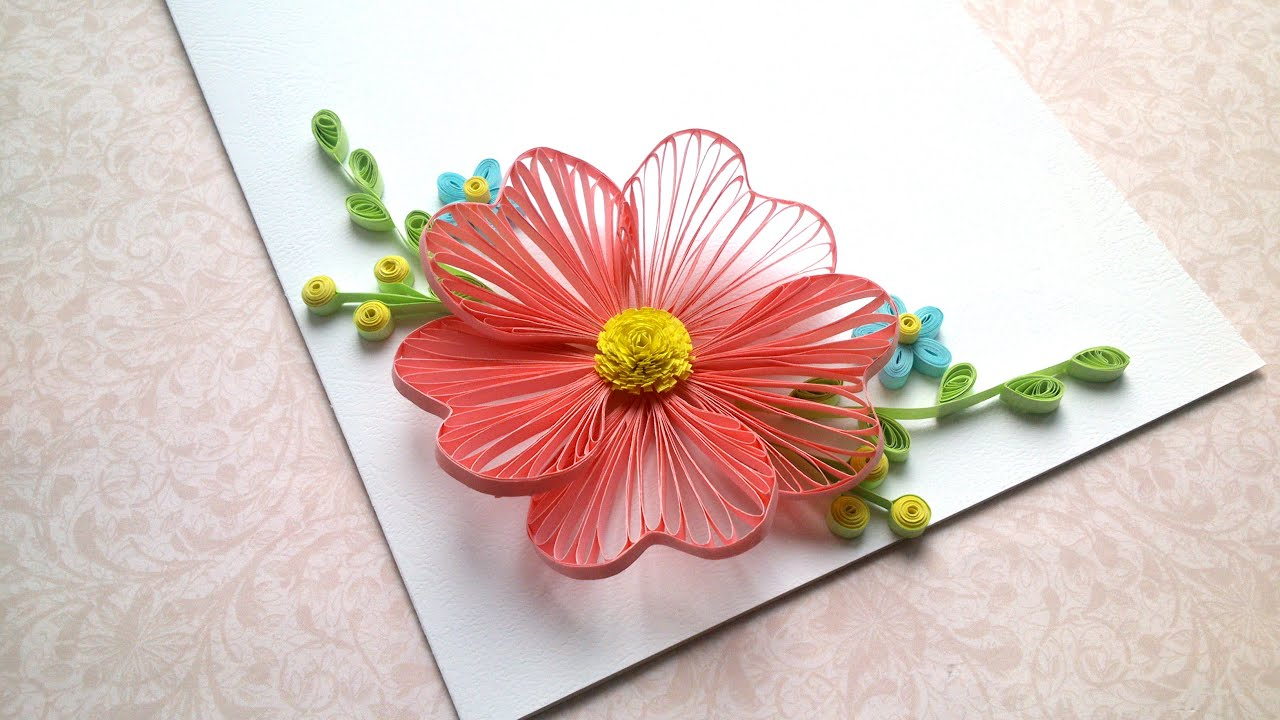 Card designs: Quilling flowers tutorial and Quilling designs for ...