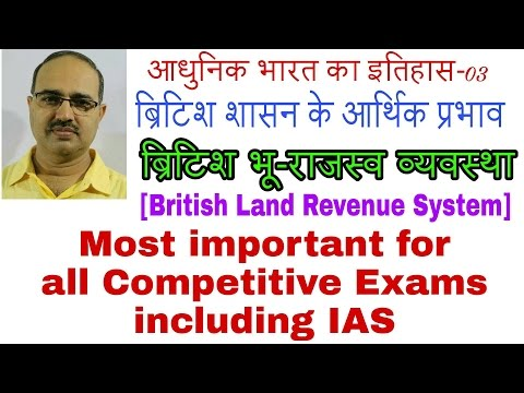Modern History-03 | Economic Impact of British Rule | British Land Revenue System | By Amar Sir