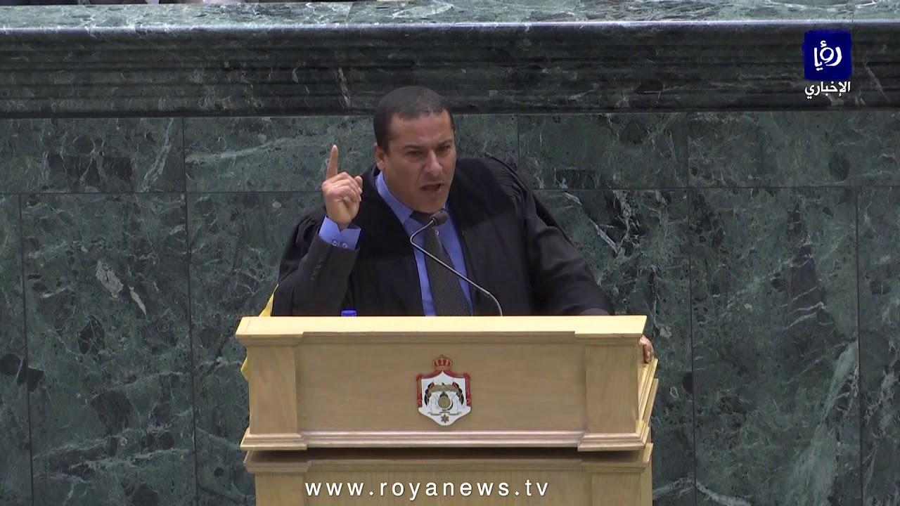 رئيس مجلس النواب عاطف الطراونة يشطب كلمة النائب غازي الهواملة