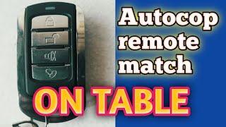 Autocop remote match center lock