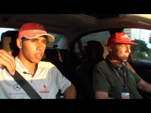 Lewis Hamilton Privately and Niki Lauda
