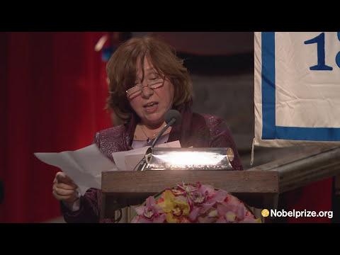 """This award honors their suffering."" Svetlana Alexievich, Nobel laureate in Literature 2015"
