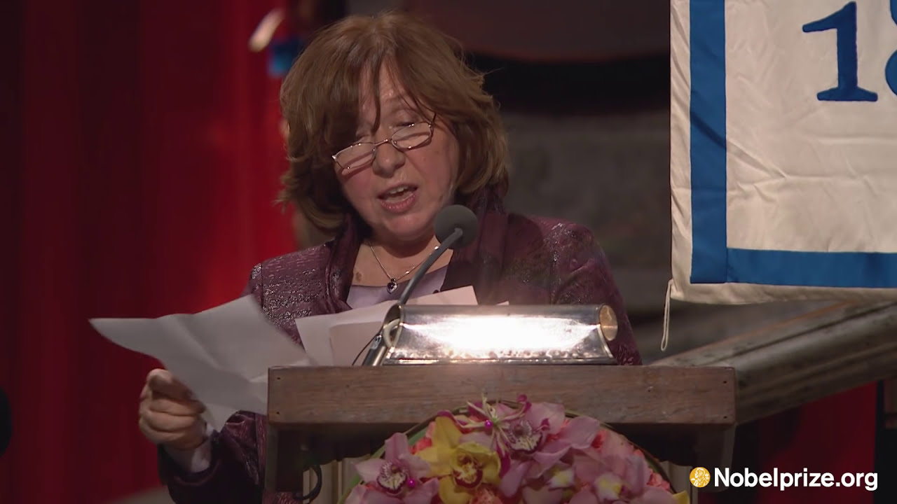 """This award honors their suffering."" Svetlana Alexievich, Nobel laureate in Literature 2015"