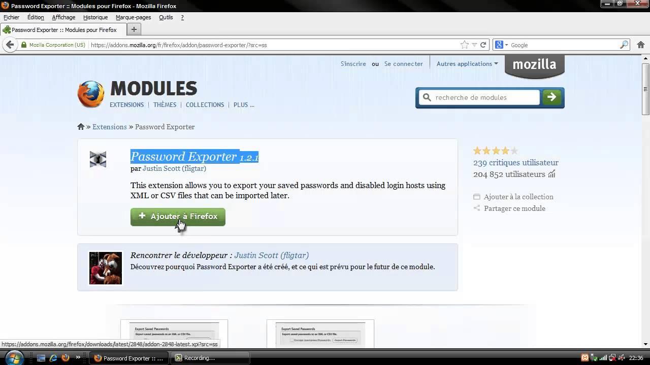 Importer/Exporter les mots de passe sous Mozilla Firefox