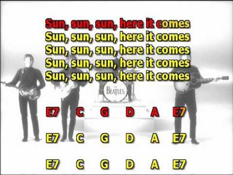 Here comes the sun Beatles no lead guitar mizo vocals  lyrics chords