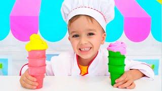 Nikita Pretend play Ice Cream Shop
