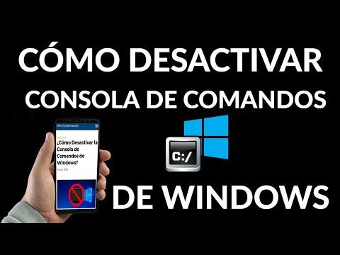 Cómo Desactivar la Consola de Comandos de Windows
