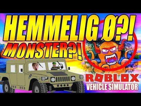 HEMMELIG Ø?! - ET MONSTER?! - VEHICLE SIMULATOR - DANSK ROBLOX - [#21]
