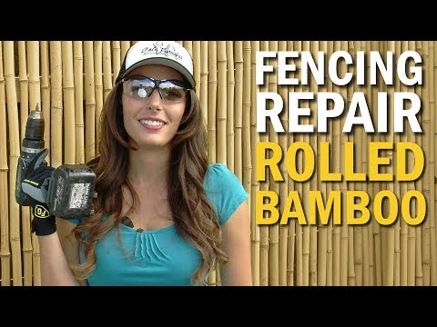 Fencing Repair - Rolled Bamboo is Cure for the Block Wall Blues