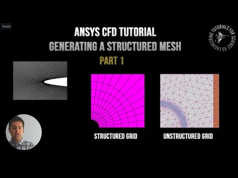 ANSYS CFD Meshing Basics: How to create a Structured (Face) Mesh,  Part 1 - Rocket Nosecone