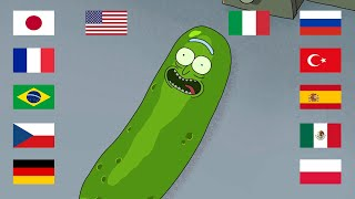 """PICKLE RICK"" in 12 different languages (best joke in the world)"
