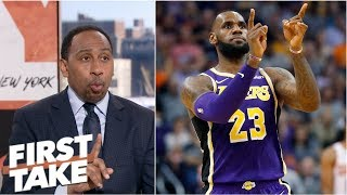 Stephen A. Smith downplays LeBron's first win with Lakers | First Take