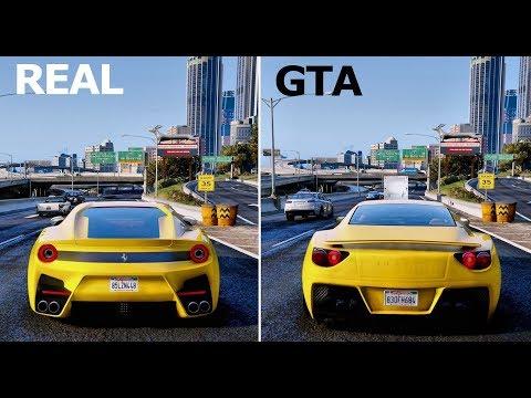 GTA Cars VS REAL LIFE Cars | 2018 GTA 6 ULTRA Realistic GRAPHICS GAMEPLAY 2 GTA V MOD