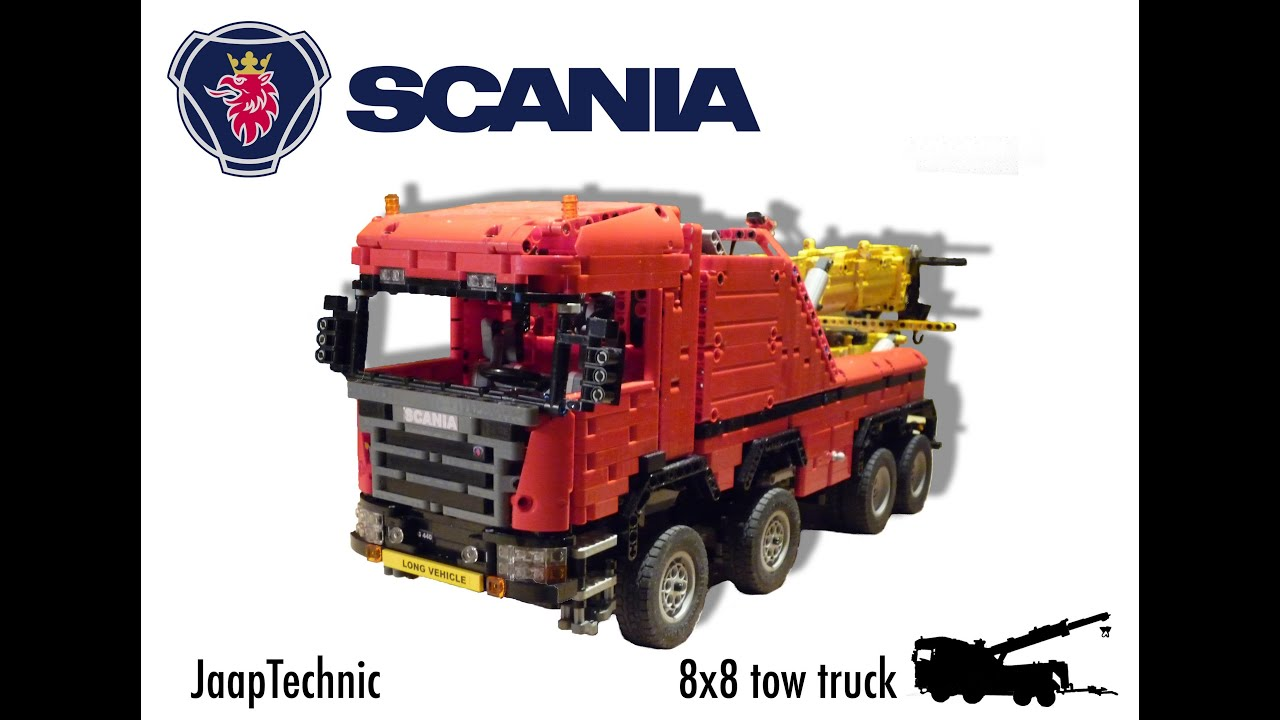 Lego Scania Offroad 8x8 Extreme Tow Truck - YouTube