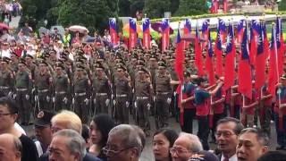國父紀念館前唱國歌