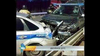 Грузовик влетел в иномарку и автомобиль ДПС в Иркутске
