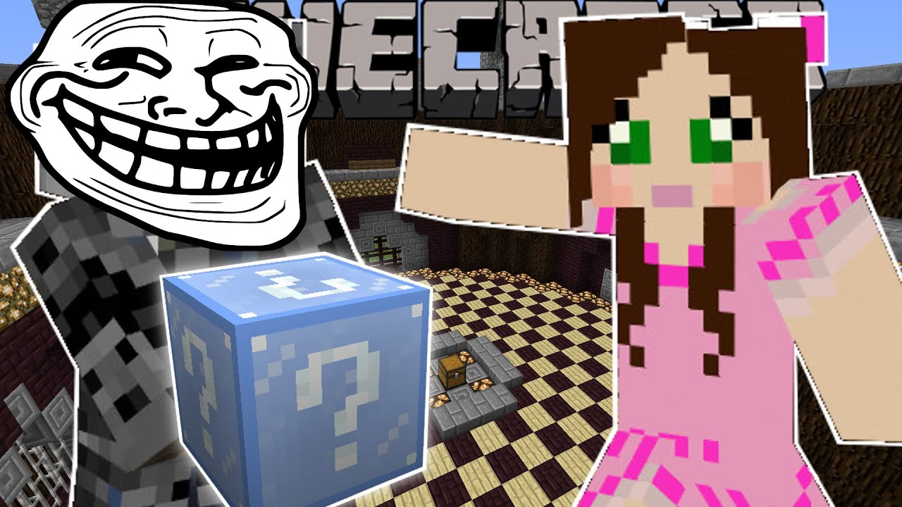 Minecraft: CHRISTMAS TROLLING GAMES - Lucky Block Mod - Modded ...