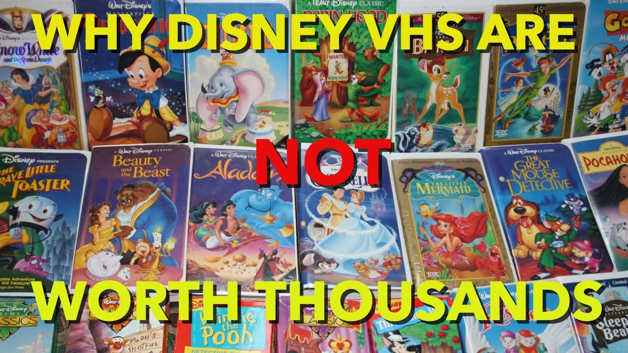 Where Can I Sell My Vhs Tapes >> Why Disney Vhs Tapes Are Not Worth Thousands