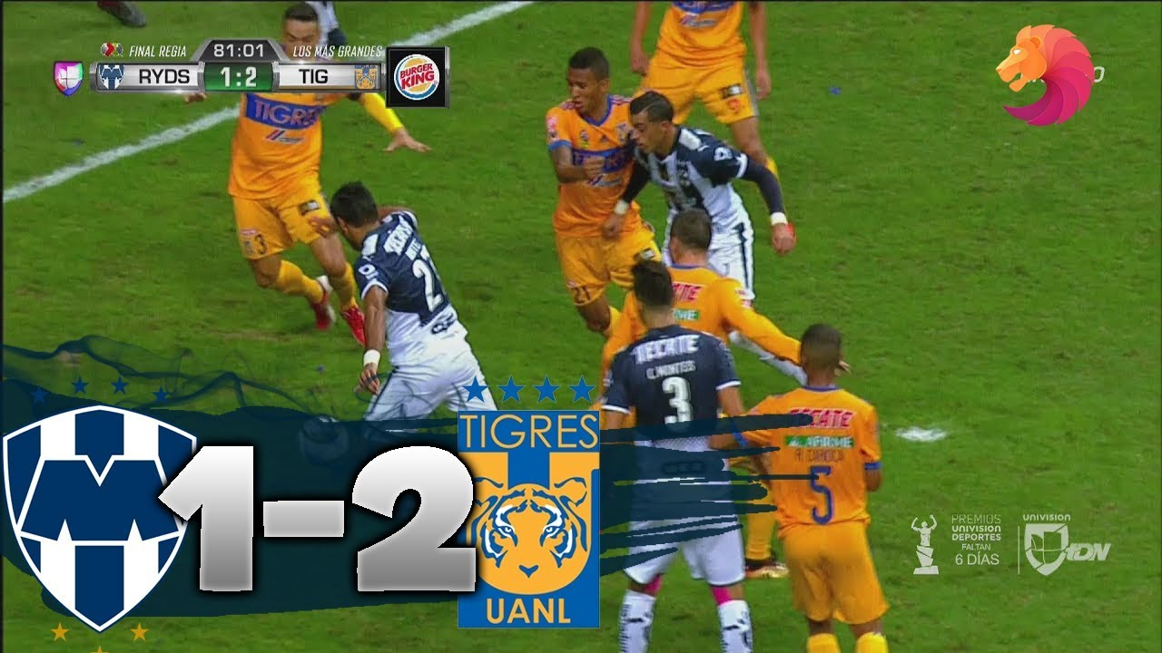 Monterrey vs Tigres 1-2 HD GOLES & RESUMEN 2017 FINAL ...