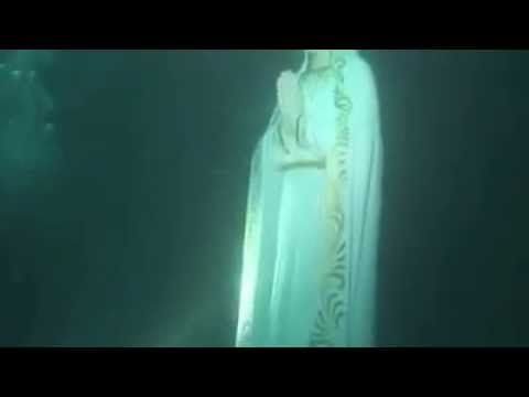 Statue of our Lady found beneath the Ocean by Divers looking missing Malaysian Aircraft MH 370